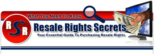 Product picture Resale rights secrets